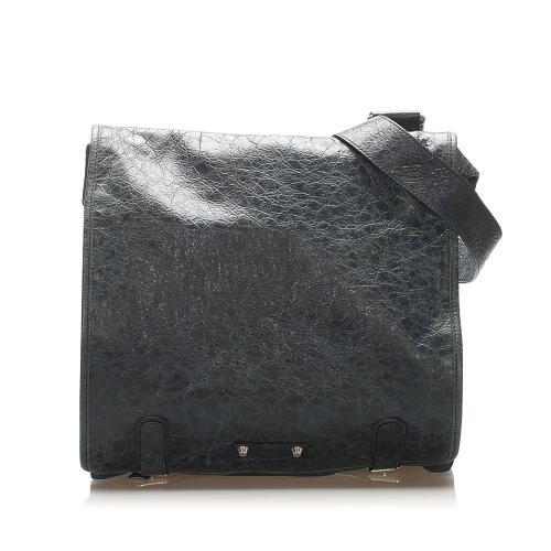 Balenciaga Agneau Messenger Leather Crossbody Bag