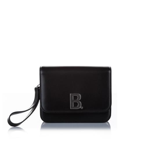 Balenciaga B Leather Crossbody Bag