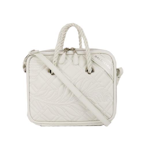 Balenciaga Leather Blanket Square Satchel