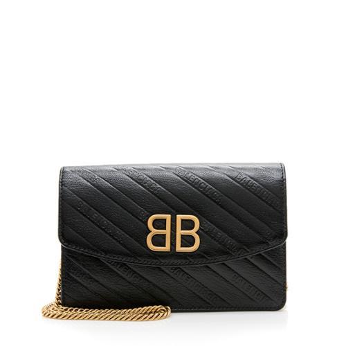 Balenciaga Calfskin BB Chain Wallet