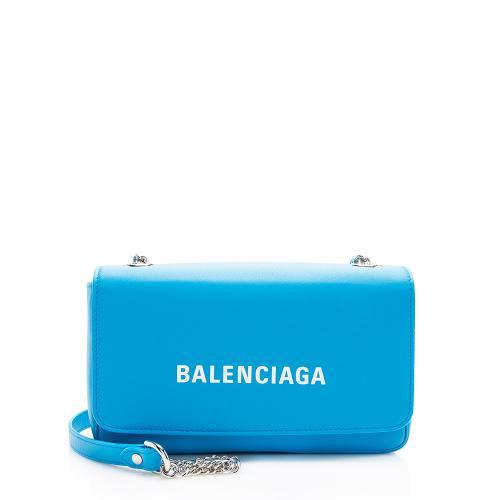 Balenciaga Calfskin Everyday Wallet On Chain Bag
