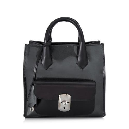 Balenciaga Calfskin Leather Padlock Mini All Afternoon Tote