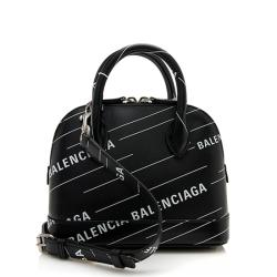 Balenciaga Calfskin Logo XXS Ville Top Handle Bag