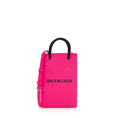 Balenciaga Calfskin Phone Holder Crossbody Bag