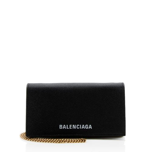 Balenciaga Calfskin Ville Phone Wallet on Chain