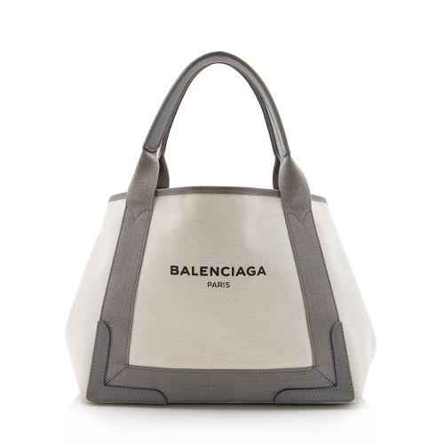 Balenciaga Canvas Logo Cabas Small Tote