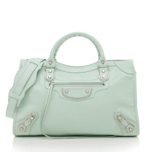 Balenciaga Chevre Classic Metallic Edge City Satchel