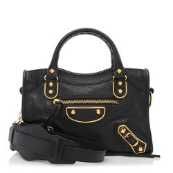 Balenciaga Chevre Metal Edge City Mini Satchel