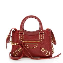 Balenciaga Chevre Metal Edge City Nano Satchel