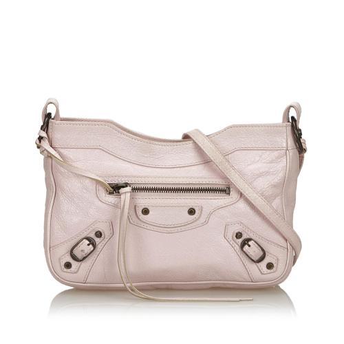 Balenciaga Lambskin Classic Hip Crossbody Bag