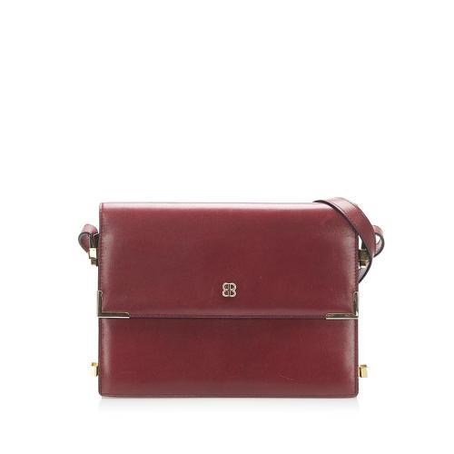 Balenciaga Flap Leather Shoulder Bag