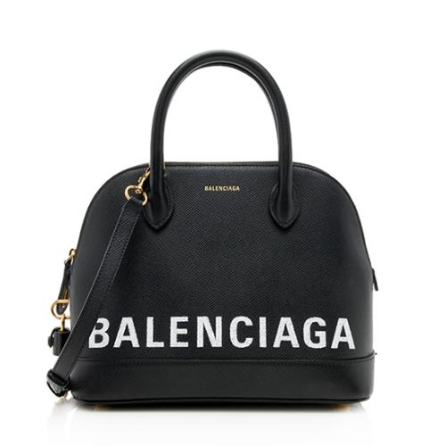 Balenciaga Grained Calfskin Ville Graffiti Top Handle Bag