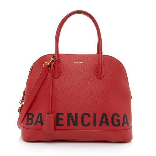 Balenciaga Grained Calfskin Ville Medium Top Handle Bag
