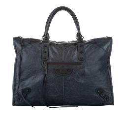 Balenciaga Large Motocross Classic City Leather Tote Bag