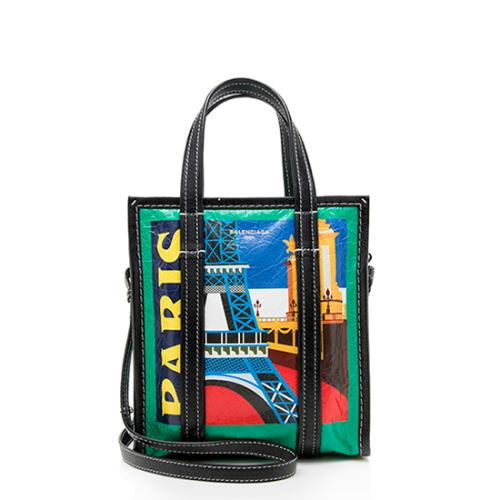 Balenciaga Leather Bazar Paris Shopping XS Tote