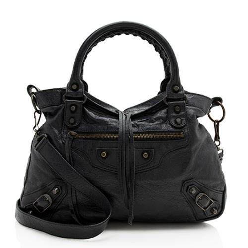 Balenciaga Leather Classic Town Satchel - FINAL SALE