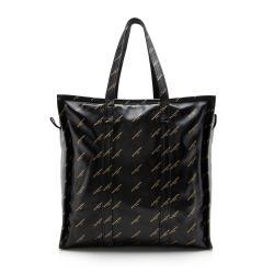 Balenciaga Leather Logo Bazar Medium Tote