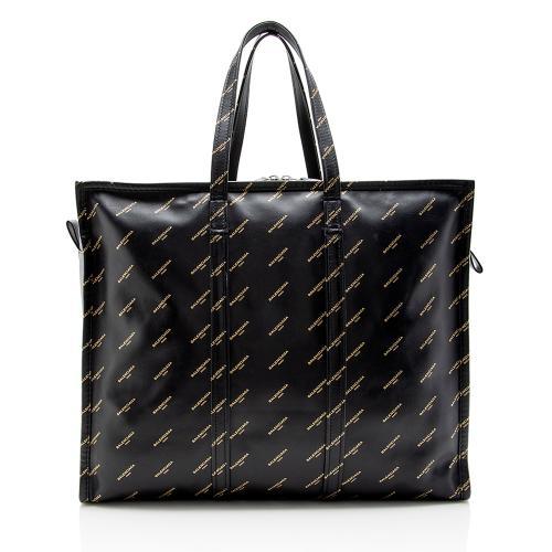 Balenciaga Leather Logo Bazar XXL Tote