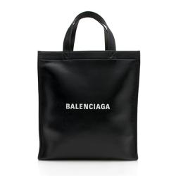 Balenciaga Leather Logo Market Tote