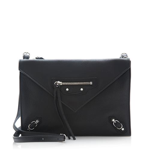 Balenciaga Calfskin Papier Envelope Mini Crossbody Bag