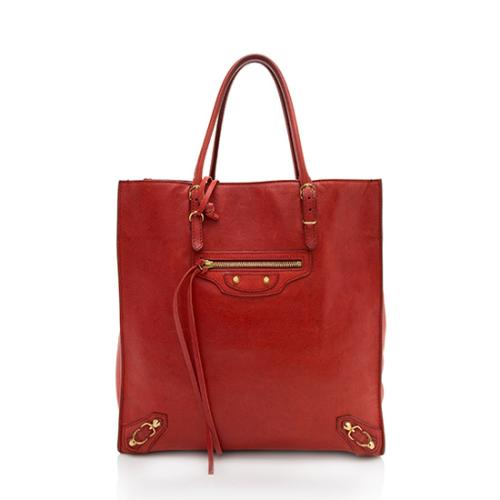 Balenciaga Leather Papier A5 Tote