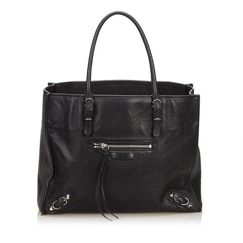 Balenciaga Leather Papier Mini A5 Tote