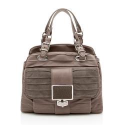 Balenciaga Leather Stingray Accordion Cherche Satchel