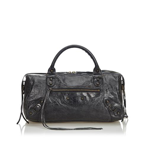 Balenciaga Leather Twiggy Satchel