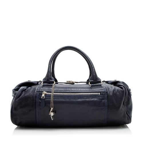Balenciaga Leather Whistle Satchel