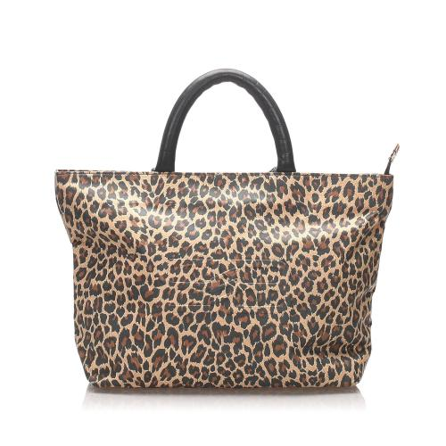 Balenciaga Nylon Leopard Tote