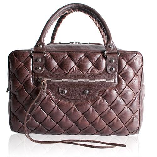 Balenciaga Matelasse Quilted Satchel Handbag