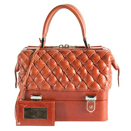 Balenciaga Matelasse Travel Satchel Handbag