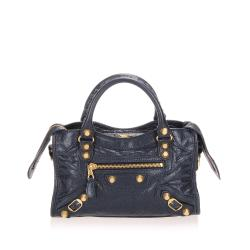 Balenciaga Leather Motocross Classic City Satchel