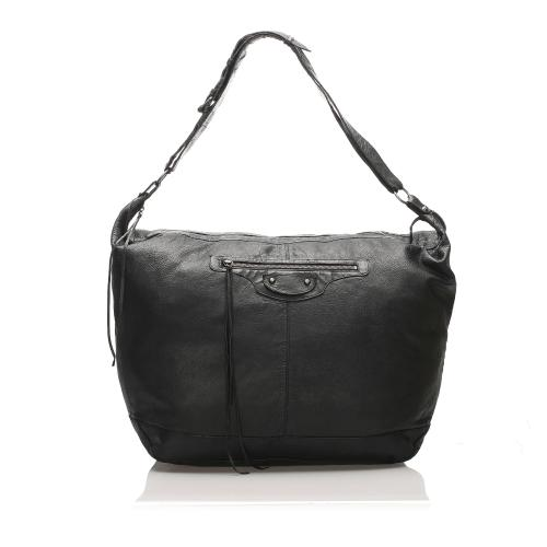 Balenciaga Motocross Classic Day Leather Shoulder Bag