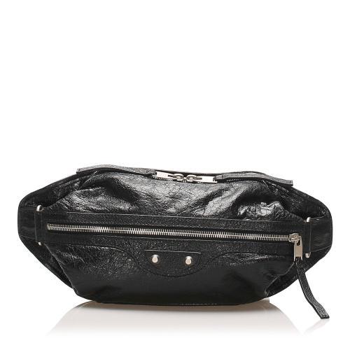 Balenciaga Motocross Classic Lambskin Leather Belt Bag