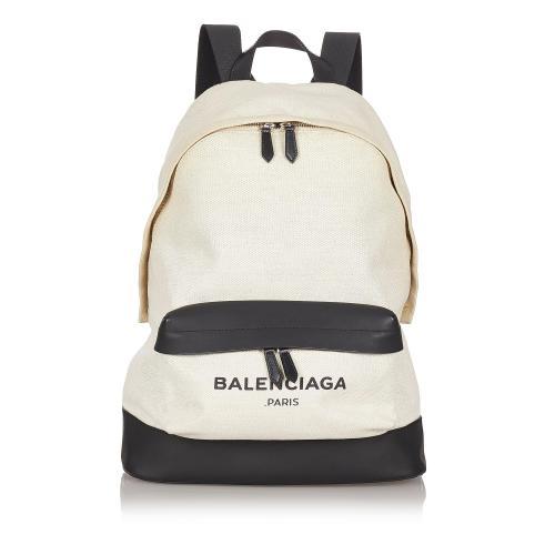 Balenciaga Navy Canvas Backpack