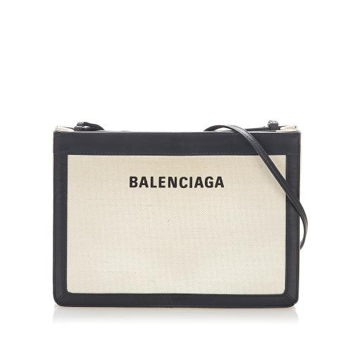 Balenciaga Navy Pochette S Leather Crossbody Bag