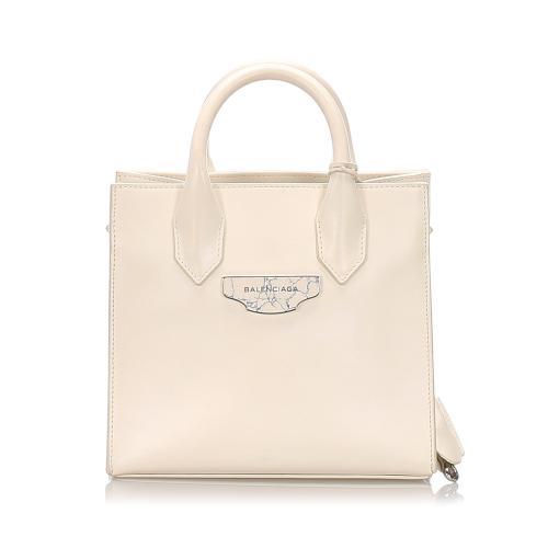 Balenciaga Leather Padlock All Afternoon Satchel