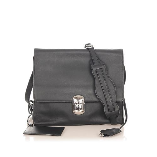 Balenciaga Padlock All Day Leather Crossbody Bag