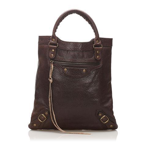Balenciaga Papier A4 Lambskin Leather Tote Bag