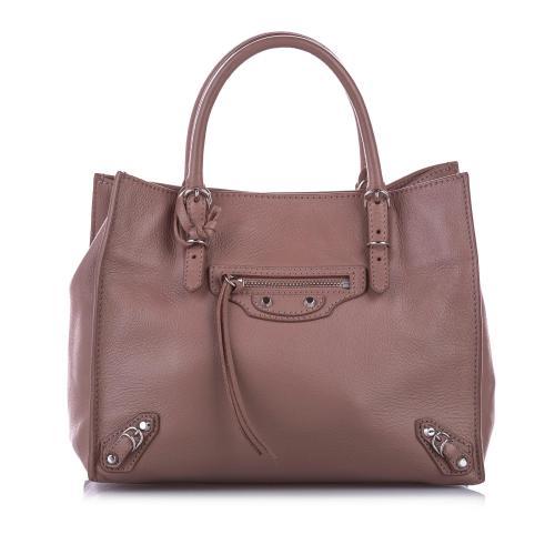 Balenciaga Papier A4 Leather Satchel