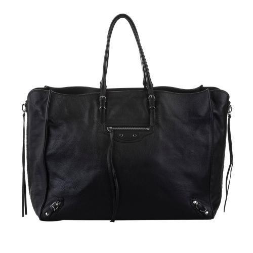 Balenciaga Papier A4 Leather Zip-Around Tote Bag