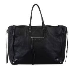Balenciaga Papier A4 Leather Zip-Around Tote Bag