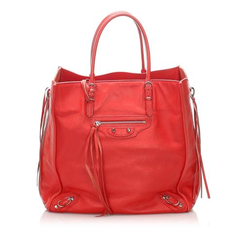 Balenciaga Papier A4 Leather Zip-Around Tote