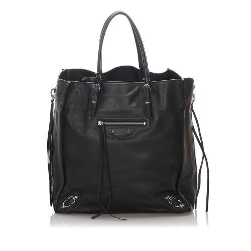 Balenciaga Leather Papier A5 Zip Around Tote