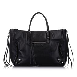 Balenciaga Papier A6 Leather Zip-Around Satchel