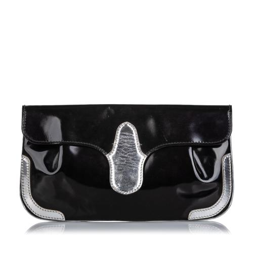 Balenciaga Patent Leather Clutch