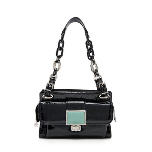 Balenciaga Patent Leather Stingray Cherche Midi Shoulder Bag