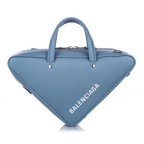 Balenciaga Leather S Triangle Satchel