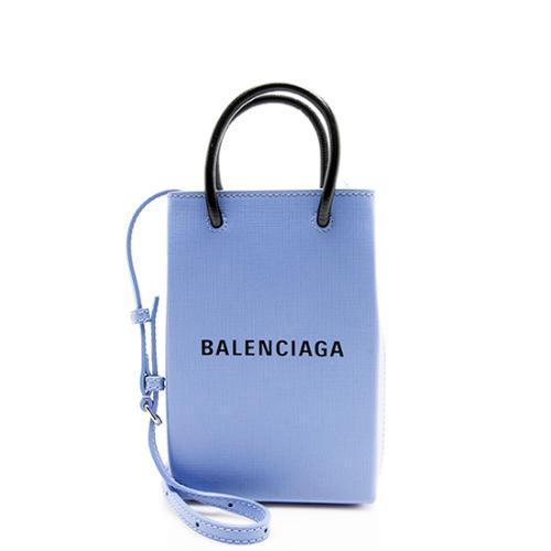 Balenciaga Textured Calfskin Phone Holder Crossbody Bag